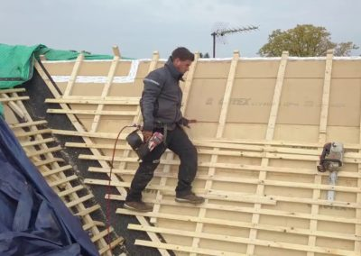 Lattage d'une toiture